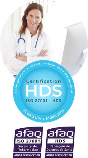 Envoi fichiers médicaux hds certification iso27001